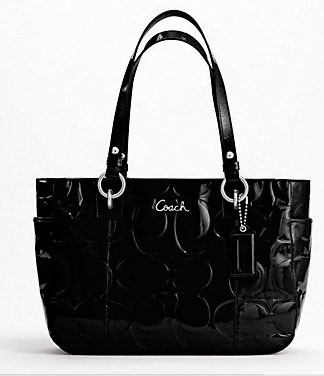 NWT Coach F17728 Gallery Patent Leather Black Tote