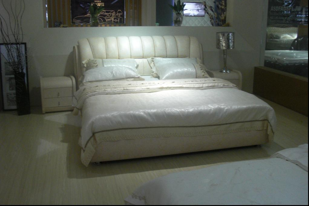 cow leather bed