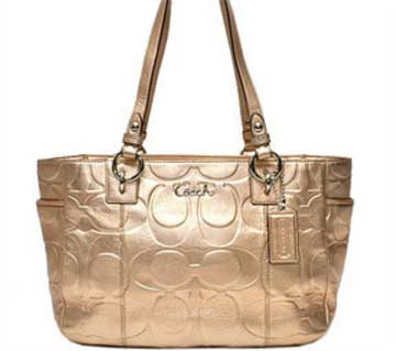 NWT COACH GALLERY EMBOSSED C METALLIC EW TOTE F17727